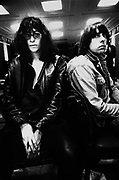 Joey and Mikey of the Ramones, Paris, France, 1980s.