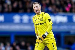 Jordan Pickford of Everton yells out passionately - Mandatory by-line: Robbie Stephenson/JMP - 01/03/2020 - FOOTBALL - Goodison Park - Liverpool, England - Everton v Manchester United - Premier League
