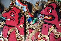 Colorful Balinese shadow puppets.