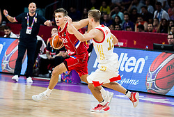 Bogdan Bogdanovic of Serbia vs Dmitry Khvostov of Russia during basketball match between National Teams of Russia and Serbia at Day 16 in Semifinal of the FIBA EuroBasket 2017 at Sinan Erdem Dome in Istanbul, Turkey on September 15, 2017. Photo by Vid Ponikvar / Sportida