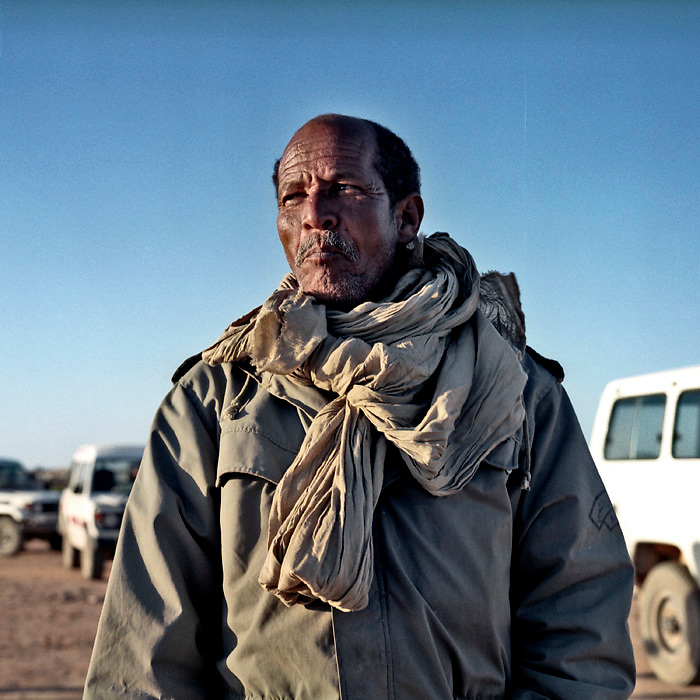 """Youslim Omar Mubarak Fal, a Sahrawi veteran of the guerrilla war with Morocco, attends the 30th anniversary celebrations of the founding of the Sahrawi Arab Democratic Republic in Tifariti. The town is in the """"liberated zone"""", the area of Western Sahara under Polisario control."""