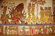 Semarapura (Klungklung), the Kerta Gosa (Hall of Justice). Scenes from hell?sinners in the afterlife.