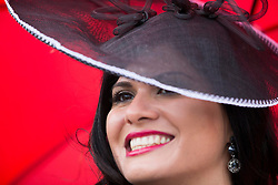 Repro Free: Punchestown 30/04/2014 Fabiola Stein from Longford pictured at day two of the Punchestown Racing Festival. Picture Andres Poveda
