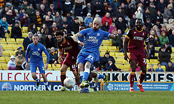 Marcus Maddison of Peterborough United scores a consolation goal from the penalty spot to make it 3-1 - Mandatory by-line: Joe Dent/JMP - 09/03/2019 - FOOTBALL - Northern Commercials Stadium - Bradford, England - Bradford City v Peterborough United - Sky Bet League One