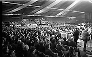 Fianna Fáil Ard Fheis.  (R97)..1989..25.02.1989..02.25.1989..25th February 1989..The Fianna Fáil Ard Fheis was held today at the RDS Main Hall, Ballsbridge, Dublin. An Taoiseach, Charles Haughey TD,gave the keynote speech of the event...A view of the assembled Fianna Fáil faithful who attended the Ard Fheis in the RDS,Dublin.