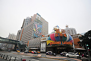 Asia, Southeast, People's Republic of China, Macau Exterior of the Grand Lisboa Hotel and Casino