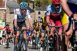 Wout POELS of Team Sky on his Pinarello bike during the 2nd of 3 climbs with 29 km to go at Mur de Huy of the 2018 La Flèche Wallonne race, Huy, Belgium, 18 April 2018, Photo by Pim Nijland / PelotonPhotos.com   All photos usage must carry mandatory copyright credit (Peloton Photos   Pim Nijland)