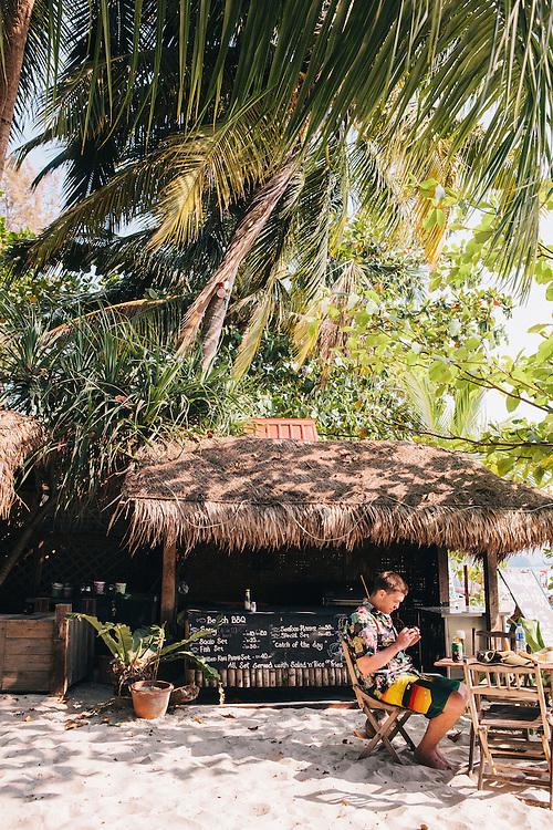 Little Lylia's Chillout Café at Pentai Chanang beach, Langkawi