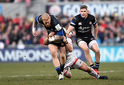 Tom Homer of Bath Rugby takes on the Ulster defence - Mandatory byline: Patrick Khachfe/JMP - 07966 386802 - 18/01/2020 - RUGBY UNION - Kingspan Stadium - Belfast, Northern Ireland - Ulster Rugby v Bath Rugby - Heineken Champions Cup