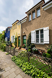Akazienhof in Gartenstadt , (Garden city), housing estate a UNESCO world Heritage site at Falkenberg in Berlin Germany