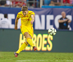 CHARLOTTE, USA - Saturday, August 2, 2014: Liverpool's captain Steven Gerrard in action against AC Milan during the International Champions Cup Group B match at the Bank of America Stadium on day thirteen of the club's USA Tour. (Pic by David Rawcliffe/Propaganda)
