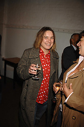 Left to right, SARAH LUCAS and TRACEY EMIN at an auction in aid of The Parkinson's Appeal for Deep Brain Stimulation 'Meeting of Minds' held at Christie's, King Street, London SW1 followed by a dinner at St.John, 26 St.John Street, London on 16th October 2007.<br /><br />NON EXCLUSIVE - WORLD RIGHTS