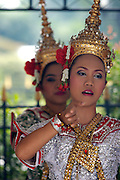 Erawan shrine. Thai dancers.