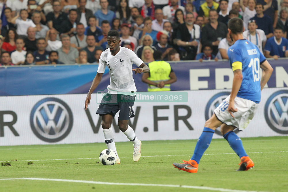 June 1, 2018 - Paris, Ile-de-France, France - Ousmane Dembl (France) during the friendly football match between France and Italy at Allianz Riviera stadium on June 01, 2018 in Nice, France..France won 3-1 over Italy. (Credit Image: © Massimiliano Ferraro/NurPhoto via ZUMA Press)