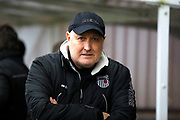 Grimsby Town manager / coach Russell Slade during the EFL Sky Bet League 2 match between Crawley Town and Grimsby Town FC at the Checkatrade.com Stadium, Crawley, England on 10 February 2018. Picture by Andy Walter.