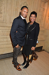 Singer DENISE PEARSON and ADRIAN GRANT at the opening night of Cirque du Soleil's award-winning production of Quidam at the Royal Albert Hall, London on 7th January 2014.