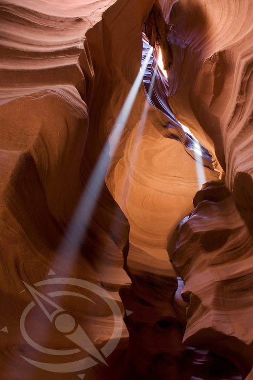Sun beams on the faces. Antelope Canyon. Page, ArizonaSunbeams on the faces. Antelope Canyon. Page, Arizona