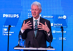 © Licensed to London News Pictures. 24/02/2018. London, UK. 42nd President of the United States Bill Clinton delivers a speech at the 2018 Patient Safety Movement conference, which hopes to achieve an end to preventable hospital patient deaths by 2020. Photo credit: Rob Pinney/LNP