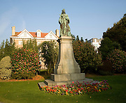 Queen Victoria statue, Candie Gardens, St Peter Port, Guernsey, Channel Islands, UK