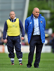 Bristol Rugby Director of Rugby Andy Robinson looks on during the pre-match warm-up - Photo mandatory by-line: Patrick Khachfe/JMP - Mobile: 07966 386802 27/05/2015 - SPORT - RUGBY UNION - Worcester - Sixways Stadium - Worcester Warriors v Bristol Rugby - Greene King IPA Championship Play-off Final (Second leg)