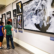 Michael Benson's photographic exhibit, Beyond: Visions of our Solar System, on display at the National Air and Space Museum in Washington DC
