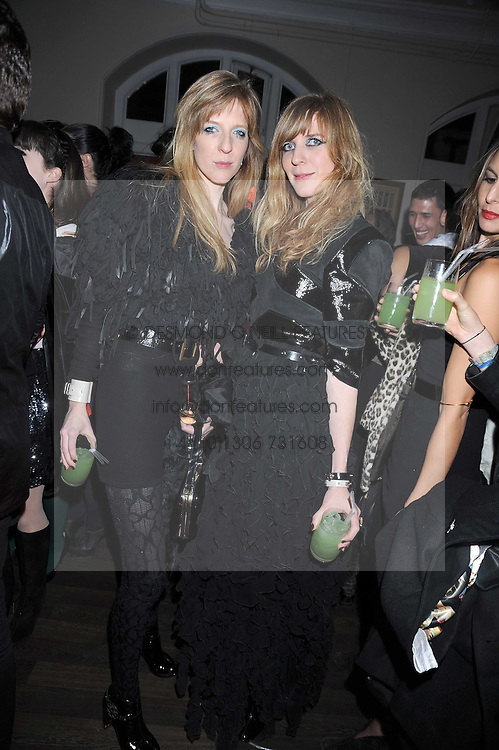 Twin sisters DANIELA and ANNETTE FELDER of the fashion label Felder & Felder at a Halloween party hosted by Alexa Chung and Browns Focus held at the House of St.Barnabas, 1 Greek Street, London on 31st October 2008.