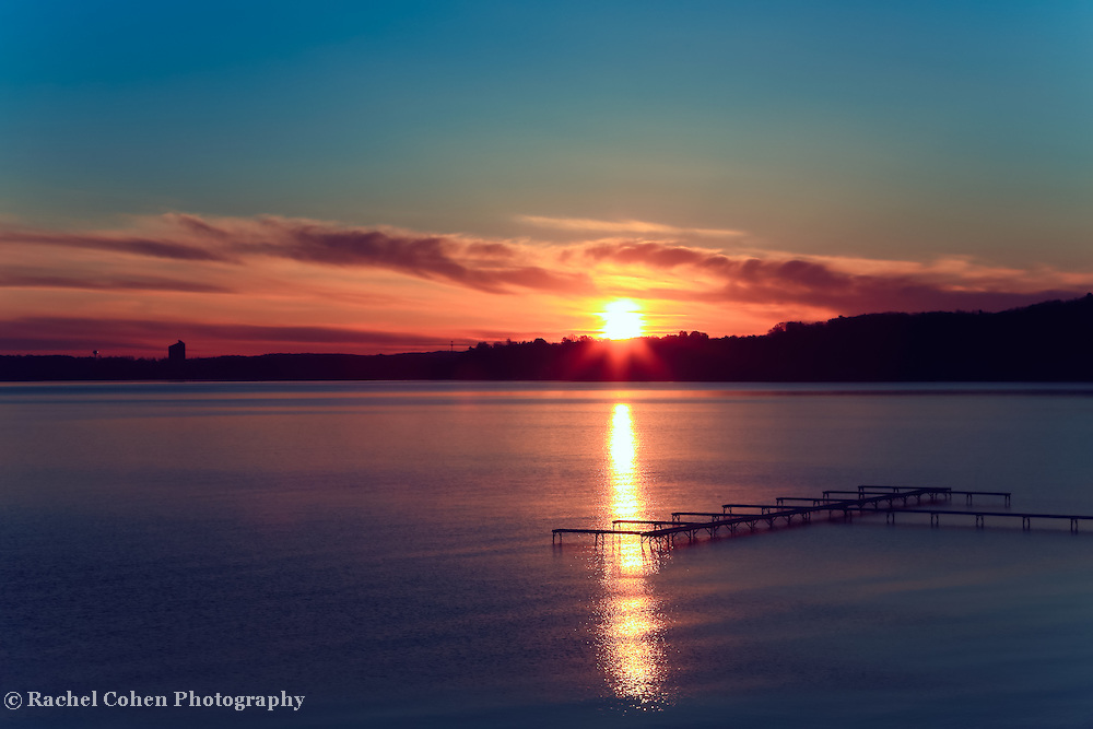 &quot;Edge of Red Dawn&quot;<br /> <br /> Gorgeous sunrise and silhouette on Grand Traverse Bay in Traverse City, Michigan!