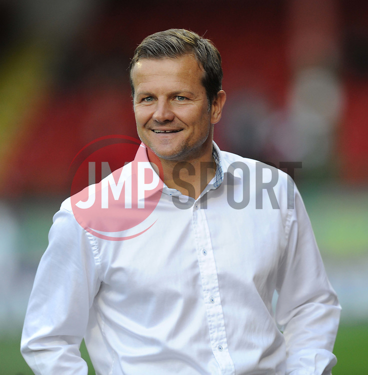 Swindon Town Manager, Mark Cooper - Photo mandatory by-line: Alex James/JMP - Mobile: 07966 386802 25/08/2014 - SPORT - FOOTBALL - Swindon - County Ground - Swindon Town v Brighton   - League Cup-