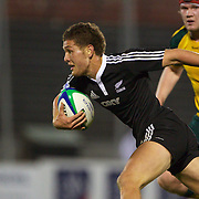 Tawera Kerr-Barlow, New Zealand, in action during the Australia V New Zealand Final match at the IRB Junior World Championships in Argentina. New Zealand won the match 62-17 at Estadio El Coloso del Parque, Rosario, Argentina,. 21st June 2010. Photo Tim Clayton...