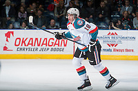 KELOWNA, CANADA - MARCH 7: Tate Coughlin #18 of Kelowna Rockets skates against the Spokane Chiefs on March 7, 2015 at Prospera Place in Kelowna, British Columbia, Canada.  (Photo by Marissa Baecker/Shoot the Breeze)  *** Local Caption *** Tate Coughlin;