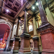 Inside the publicly accessible area, walk-through area in Philadelphia's City Hall building.