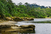 Amazonian rainforest stream. Photographed in Colombia