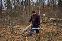 Wood harvesting in central Wisconsin for the coming winter Monday, April 28, 2014, in Friendship Wi. photo/darren hauck)