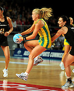 Kimberlee Green (AUS)<br /> Netball - 2009 Holden International Test Series<br /> Australian Diamonds v New Zealand Silver Ferns<br /> Wednesday 9 September 2009<br /> Hisense Arena, Melbourne AUS<br /> © Sport the library / Jeff Crow