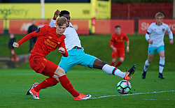 KIRKBY, ENGLAND - Friday, March 31, 2017: Liverpool's Glen McAuley in action against West Ham United during an Under-18 FA Premier League Merit Group A match at the Kirkby Academy. (Pic by David Rawcliffe/Propaganda)
