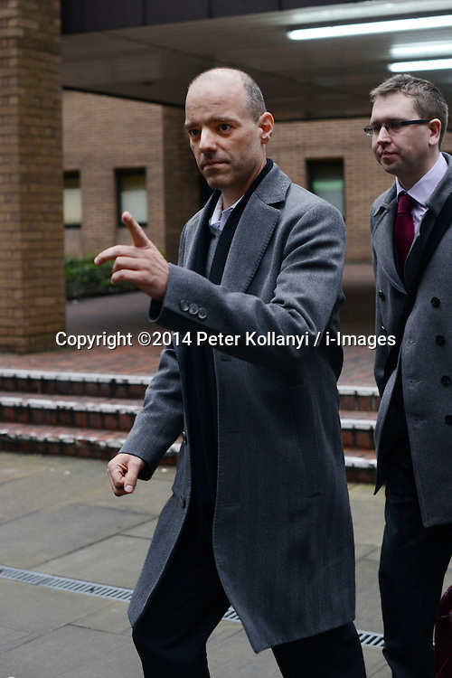 Former Barclays traders Trial. Stylianos Contogoulas leaves Southwark Crown Court, Southwark Crown Court, London, United Kingdom. Monday, 3rd March 2014. Picture by Peter Kollanyi / i-Images