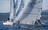 Silvers Marine Scottish Series 2017<br /> Tarbert Loch Fyne - Sailing<br /> <br /> Sigma 33 start with GBR4270, Sigmatic, Donald &amp; Anita Mclaren, Helensburgh SC<br /> <br /> Credit Marc Turner / PFM