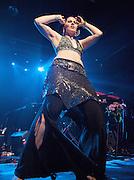 SuperKate belly dancing <br /> Live performance at Heaven, London, Great Britain <br /> 2nd September 2011 <br /> <br /> Super Kate supporting <br /> Amanda Palmer <br /> <br /> <br /> Photograph by Elliott Franks