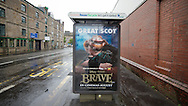 Disney Pixar Brave movie adshells photographed in Edinburgh for Clear Channel UK.