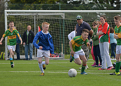 Aghamore NS Mayo and Gortletteragh NS Leitrim  in action at the SPAR FAI Primary Schools 5's Connacht finals at Solar Park Mayo.<br /> Pic Conor McKeown