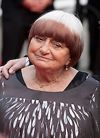 Agnes Varda at the Closing ceremony and premiere of La Glace Et Le Ciel at the 68th Cannes Film Festival, Sunday 24th May 2015, Cannes, France.