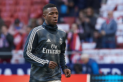 February 9, 2019 - Madrid, Madrid, Spain - Vinicius Junior of Real Madrid during the warm-up before the week 23 of La Liga between Atletico Madrid and Real Madrid at Wanda Metropolitano stadium on February 09 2019, in Madrid, Spain. (Credit Image: © Jose Breton/NurPhoto via ZUMA Press)