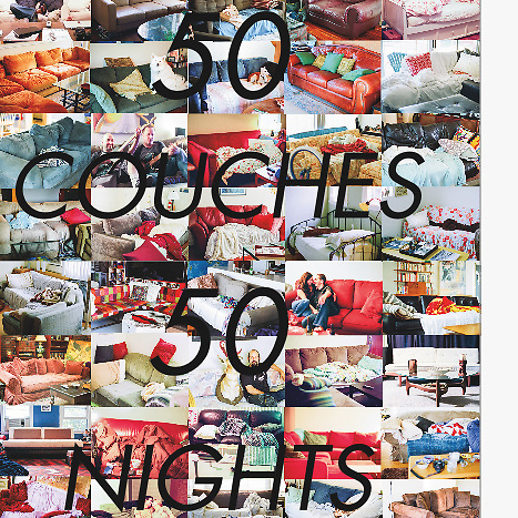 &quot;50 Couches in 50 Nights&quot; : The Book (paperback)<br />