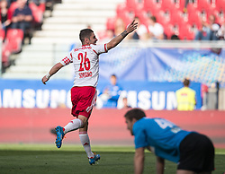 18.05.2014, Woerthersee Stadion, Klagenfurt, AUT, OeFB Samsung Cup, FC Red Bull Salzburg vs SKN St. Poelten, Finale, im Bild Kapitän Jonatan Soriano Casas (FC Red Bull Salzburg) Jubelt über seinen Treffer zum 3:1 // during the mens OeFB Samsung Cup final match between FC Red Bull Salzburg vs SKN St. Poelten at the Woerthersee Stadium, Klagenfurt, Austria on 2014/05/18. EXPA Pictures © 2014, PhotoCredit: EXPA/ Johann Groder