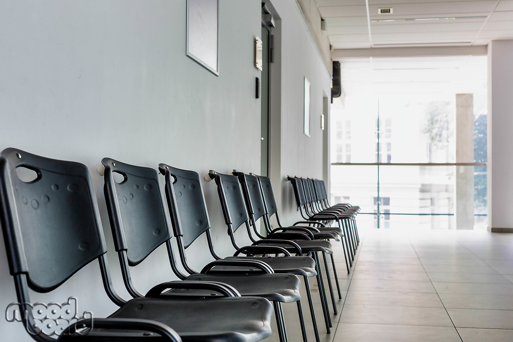 Photo of empty chairs waiting area in university