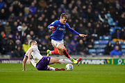 Cameron McGeehan of Portsmouth in action during the EFL Sky Bet League 1 match between Portsmouth and Shrewsbury Town at Fratton Park, Portsmouth, England on 15 February 2020.