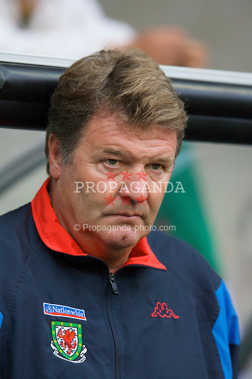 SWANSEA, WALES - TUESDAY, AUGUST 15th, 2006: Wales' manager John Toshack during the International Friendly match against Bulgaria at the Liberty Stadium. (Pic by David Rawcliffe/Propaganda)
