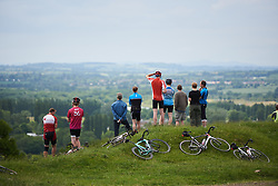 Looking out for the race at the top of Burton Dassett at OVO Energy Women's Tour 2018 - Stage 3, a 151 km road race from Atherstone to Leamington Spa, United Kingdom on June 15, 2018. Photo by Sean Robinson/velofocus.com