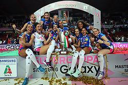 PODIO NOVARA<br /> PALLAVOLO VOLLEY SUPERCOPPA ITALIANA FEMMINILE 2017-2018<br /> IGOR GORGONZOLA NOVARA - IMOCO VOLLEY CONEGLIANO<br /> NOVARA 01-11-2017<br /> FOTO FILIPPO RUBIN / LVF