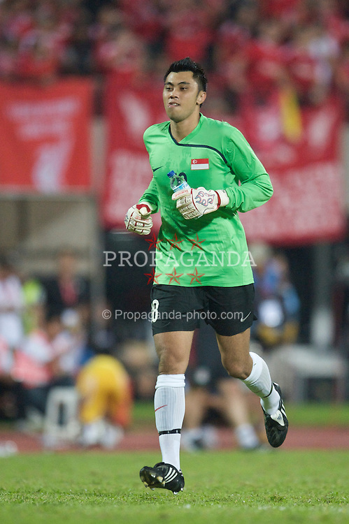 SINGAPORE, SINGAPORE - Sunday, July 26, 2009: Singapore's substitute goalkeeper xxxx during a preseason friendly at the Singapore National Stadium. (Pic by David Rawcliffe/Propaganda)